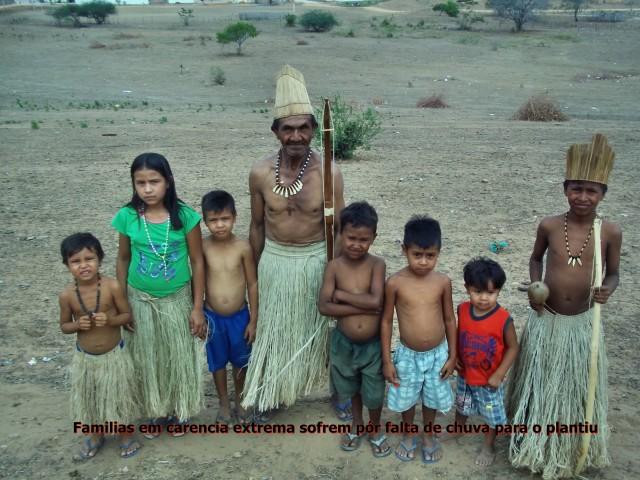 O drama dos índios Kiriri: a falta de chuva atinge principalmente crianças e anciãos