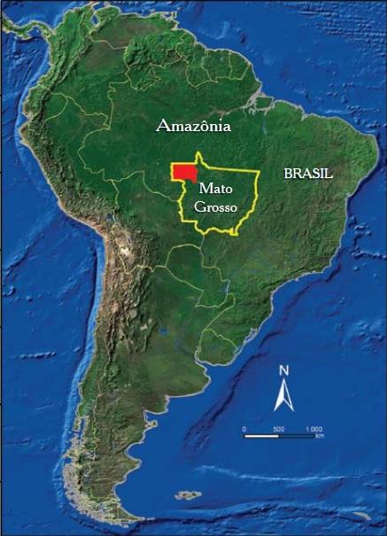 Área foco do Projeto - noroeste do estado do Mato Grosso, Região Centro Oeste do Brasil. Foto: Laércio Miranda
