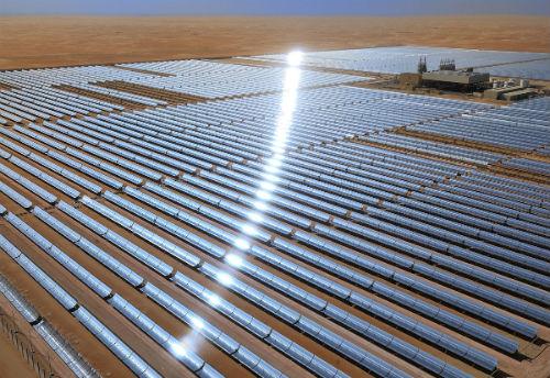 Portal Carbono Brasil - Emirados Árabes Unidos inauguram maior usina de concentração solar do planeta - seg 18 mar 2013
