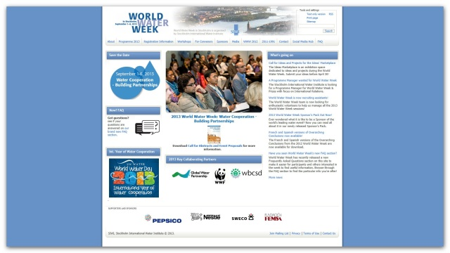 World Water Week 2013.