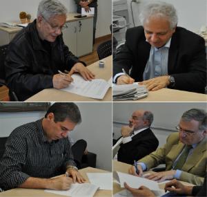 Cerimônia de assinatura termo de acordo para uso das instalações da Coppe/UFRJ pelo escritório do Centro Rio+. Fotos: Carolina Silva/Coppe-UFRJ