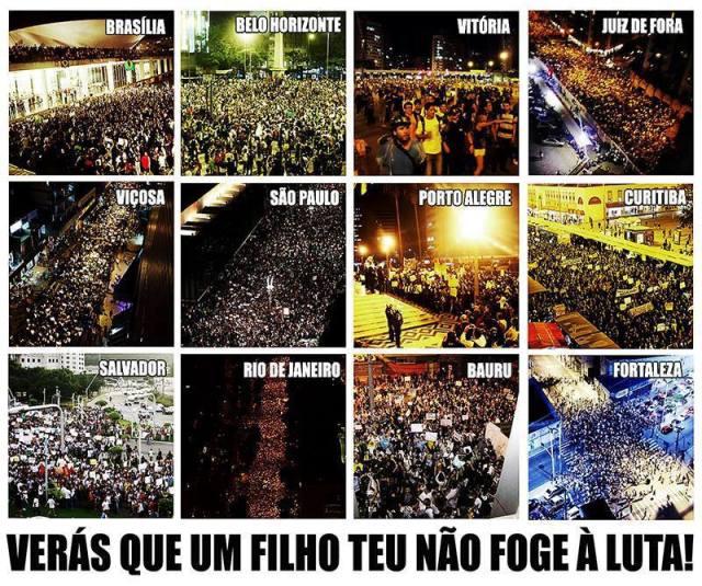 Manifestações ocorridas em cidades brasileiras no dia 17 de junho de 2013