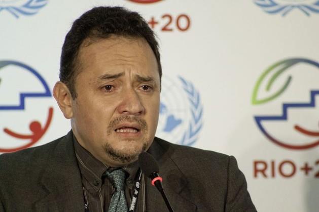 René Orellana, chefe da delegação da Bolívia, na cúpula Rio+20, em junho de 2012. Foto: UN Photo/Nicole Algranti