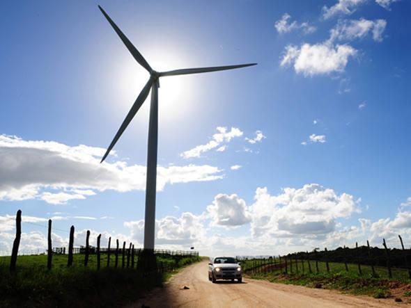 Turbinas do Parque Eólico da Gestamp, em Pernambuco. Foto: Germano Luders/Exame