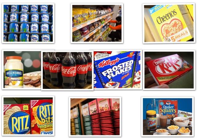 Associated British Foods, Coca-Cola, Danone, General Mills, Kellogg, Mars, Mondelez International, Nestlé, PepsiCo e Unilever: as 10 maiores indústrias de alimentos emissoras de carbono e GEE gases do efeito estufa - Fonte: OXFAM 20 de maio de 2014