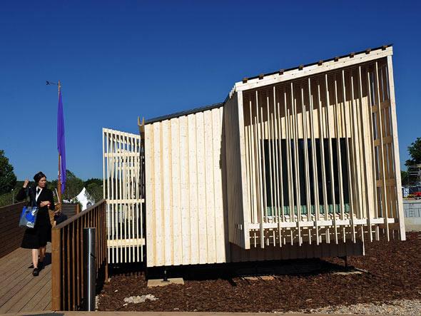Casa solar desenvolvida por estudantes finlandeses. Foto: Getty Images