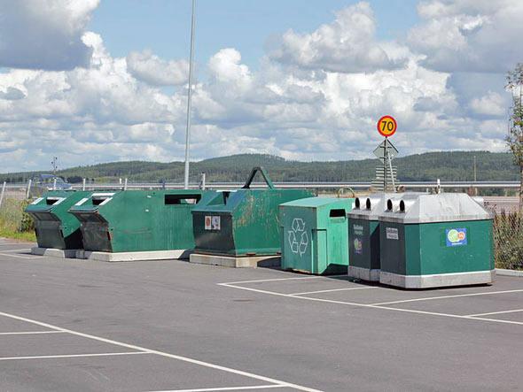 Reciclagem na Suécia. Foto: Wikimedia Commons