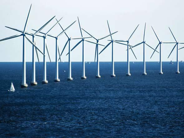 Parque eólico na Dinamarca. Foto: Creative Commons / C. G. P. Grey