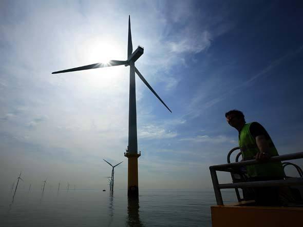 Usina eólica offshore no Reino Unido. Foto: Getty Images