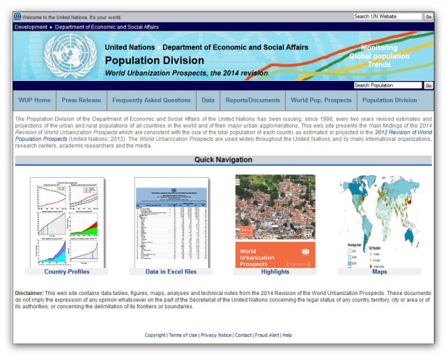 United Nations 2014 Revision of World Urbanization Prospects