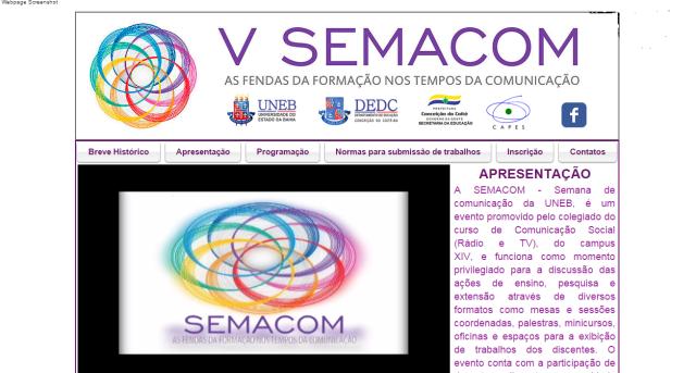 V Semana de Comunicação da UNEB - Campus XIV.3