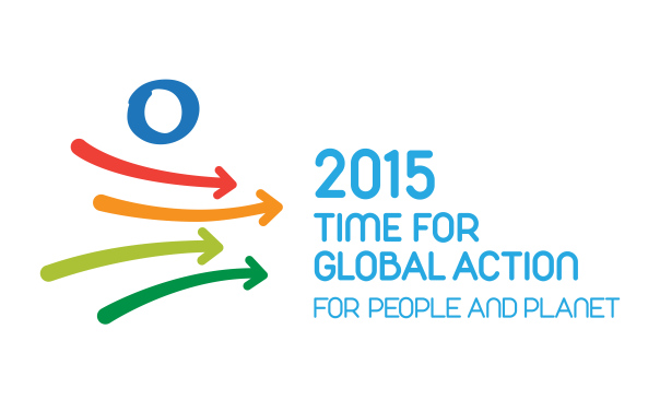 "This image is the official logo of the ""2015 Time for Global Action"" campaign (www.un.org/action2015)."