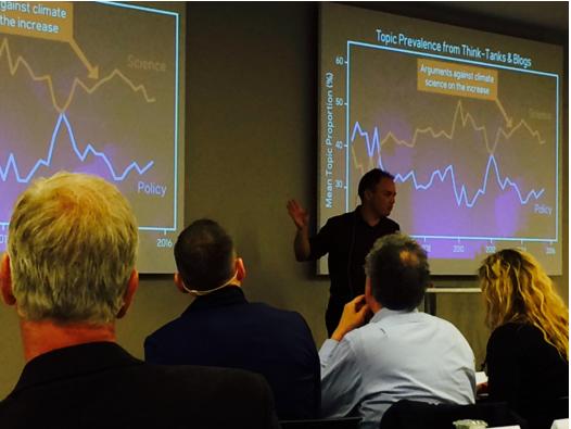 O australiano John Cook, editor do site Skeptical Science, fala durante encontro do IPCC em Oslo. Foto: Claudio Angelo/OC
