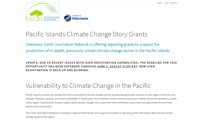 Earth Journalism Nertwork - Pacific Islands Climate Change Story G_ - http___earthjournalism.net_opportu