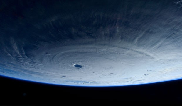 This image shows Typhoon Maysak, taken by astronaut Samantha Cristoforetti from the International Space Station, March 2015